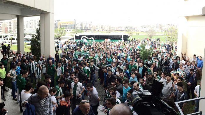 Bursaspor'u İstanbul'a uğurladılar