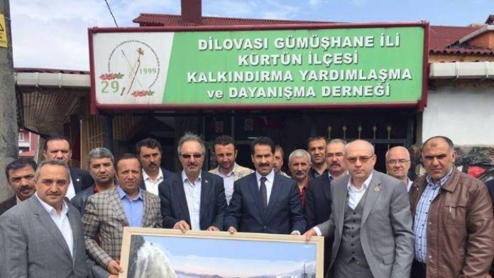 Kürtünülüler, Milletvekili Yaman Ve Başkan Toltar'ı Ağırladı
