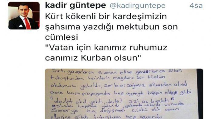 Kürt kökenli vatandaştan kaymakama duygulandıran mektup