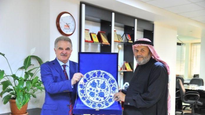 Katar Üniversitesinden Rektör Elmas'a Ziyaret