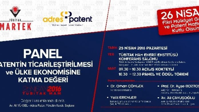 Akademisyenler Patentin Ülke Ekonomisine Katma Değerini Değerlendirecek