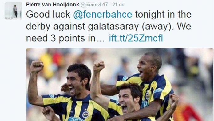 Hooijdonk'tan Fenerbahçe'ye derbi desteği