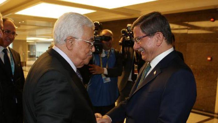 Başbakan Davutoğlu, Mahmud Abbas ile görüştü