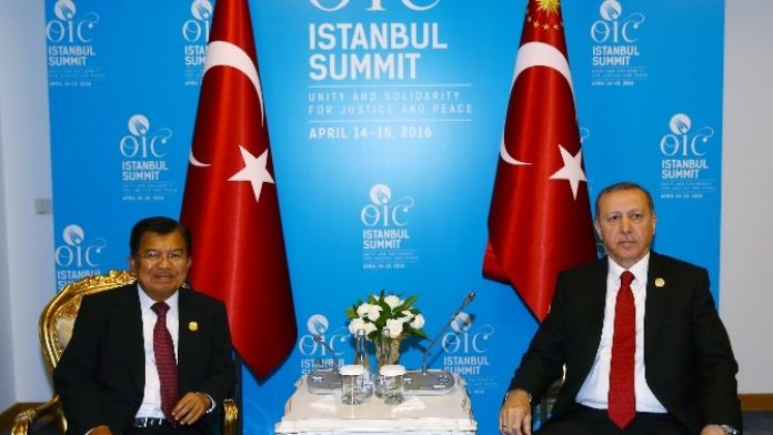 Cumhurbaşkanı Erdoğan Endonezya Cumhurbaşkanı 1. Yardımcısı Kala İle Görüştü
