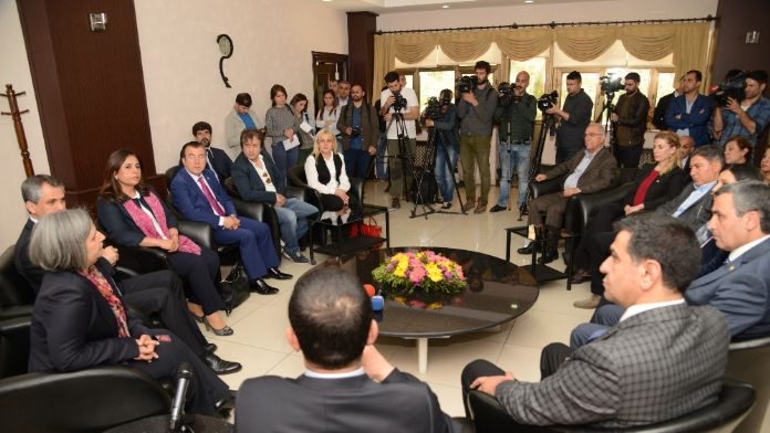 CHP heyetinden Diyarbakır Büyükşehir Belediyesine ziyaret