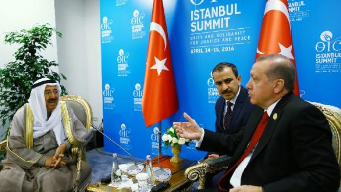 Fotoğraflar / Erdoğan, İslam İşbirliği Teşkilatı 13. İslam Zirvesi'nde Kuveyt Emir'i ile görüştü