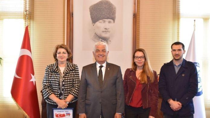 Nesibova Başkan Gürün'ü Ziyaret Etti