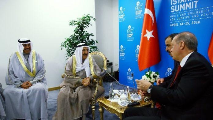 Cumhurbaşkanı Erdoğan, Kuveyt Emiri İle Görüştü