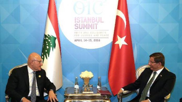fotoğraflar / Davutoğlu, Lübnan Bakanlar Kurulu Başkanı ile görüştü
