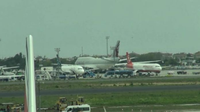 Zirve için gelen uçaklar Atatürk Havalimanı'nı doldurdu