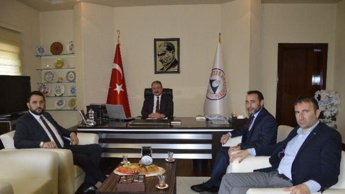 MÜSİAD Kayseri Şubesi Rektör Güven'i Ziyaret Etti