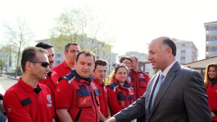 Vali Azizoğlu UMKE İle Bir Araya Geldi
