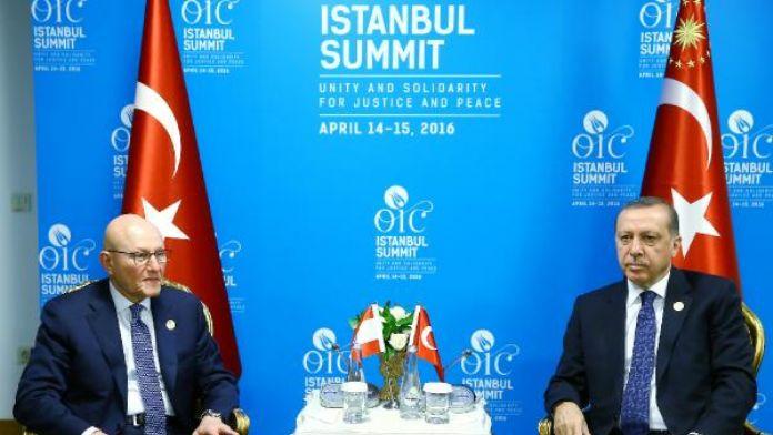 Cumhurbaşkanı Erdoğan, Lübnan Başbakanı ile görüştü