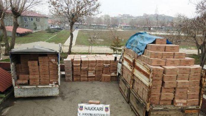 Yüksekova'da 311 bin 500 paket kaçak sigara ele geçirildi