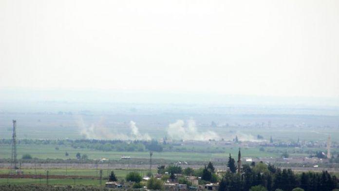 Fırtına obüsleri IŞİD mevzilerini vuruyor