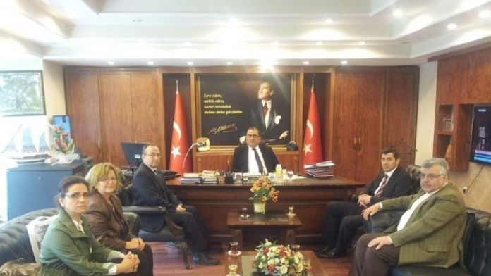 Nazilli Kent Konseyi, Kaymakam Mehmet Okur'u Ziyaret Etti