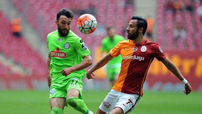 Galatasaray Rize'de avantaj peşinde