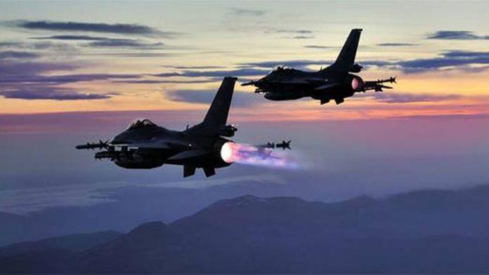 Kuzey Irak'a 22 uçakla hava harekatı