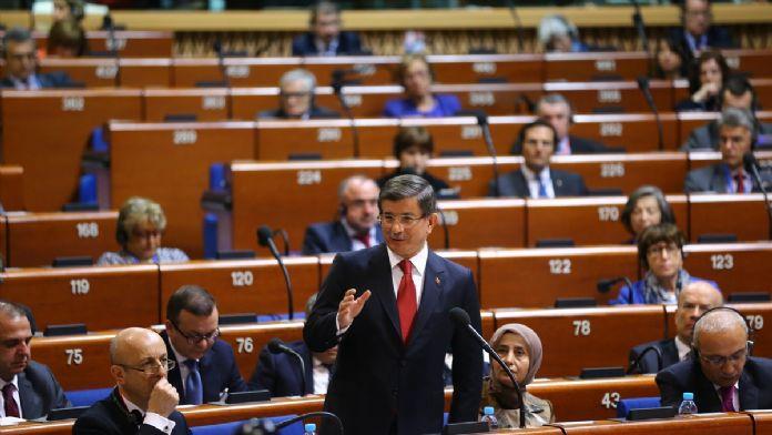 Başbakan Davutoğlu Strazburg'da