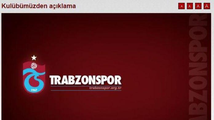 Trabzonspor'dan şike, teknik direktör, ekonomik durum açıklaması