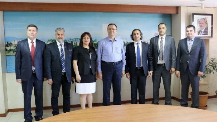 Turab'ın Yeni Yönetimi, MTSO Başkanı Aşut'u Ziyaret Etti