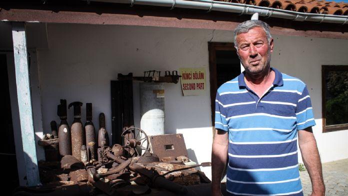 Köy bakkalının kurduğu müze ziyaretçilerin uğrak noktası