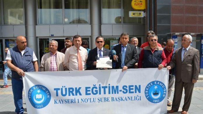 Türk Eğitim Sen 1 No'lu Şube Başkanı Ali Benli: