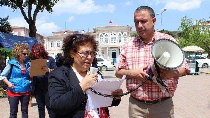 CHP'li Kadınlar Çocuk İstismarlarını Kınamak İçin Bir Araya Geldi