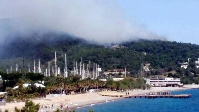 Bodrum'da Orman Yangını Otellere Doğru İlerliyor