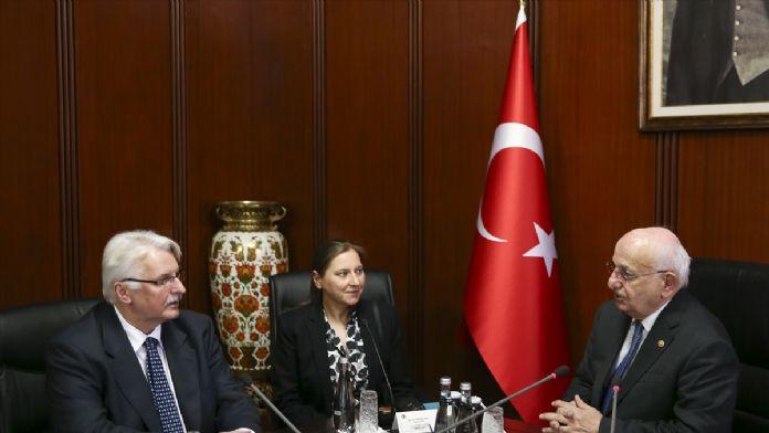 TBMM Başkanı Kahraman, Polonya Dışişleri Bakanı Waszcykowski'yi k