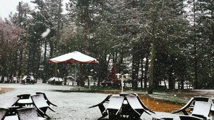 Abant'a '21 Nisan karı'