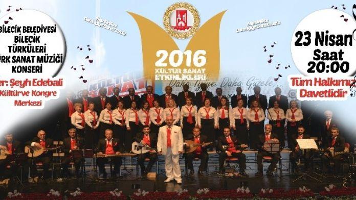 Bilecik Belediyesi Türk Sanat Müziği Korosu'ndan 'Bilecik Türküleri' Konseri