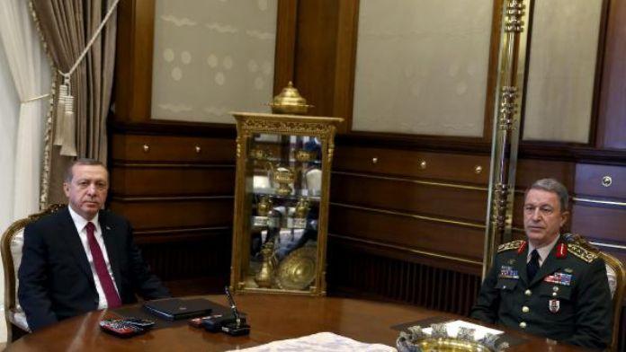 Cumhurbaşkanı Erdoğan, Genelkurmay Başkanı Hulusi Akar'ı kabul etti