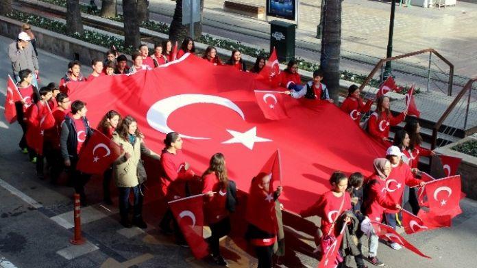 Antalya'da 57. Alay Çanakkale Vefa Yürüyüşü