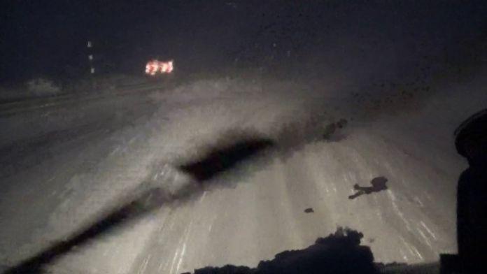 İspir'de Kar Fırtınası