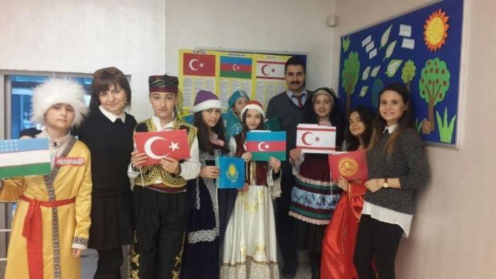 Öğrencilerden 'Türk Dünyası Haftası'na Coşkulu Kutlama
