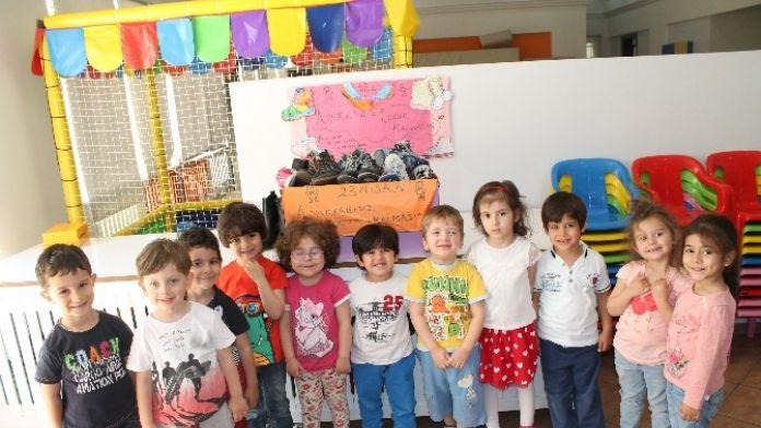 'Ayakkabısız Çocuk Kalmasın' Kampanyasına Büyük Destek