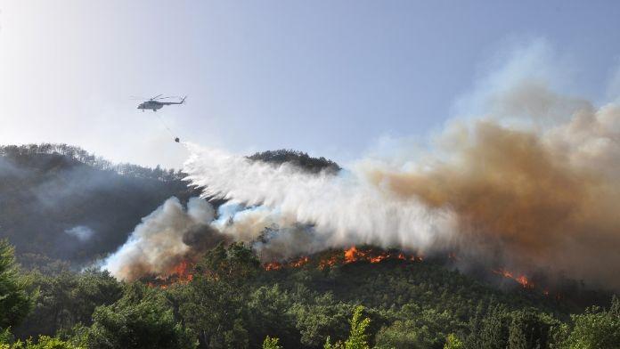 Orman yangınlarına müdahale için hazırlar