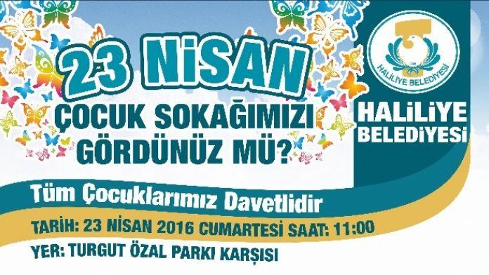 Haliliye Belediyesi'nden Çocuklara 23 Nisan Süprizi
