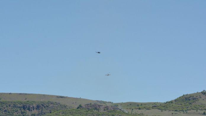Şehitlerin verildiği bölgede hava destekli operasyon