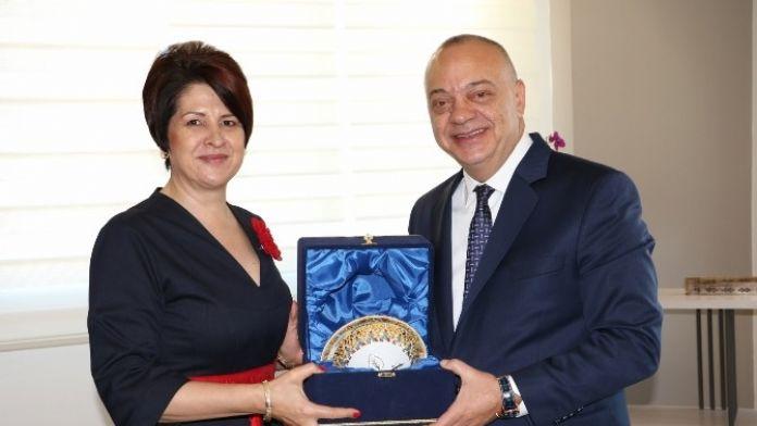 Başkan Ergün, Romanya İzmir Başkonsolosu'nu Ağırladı