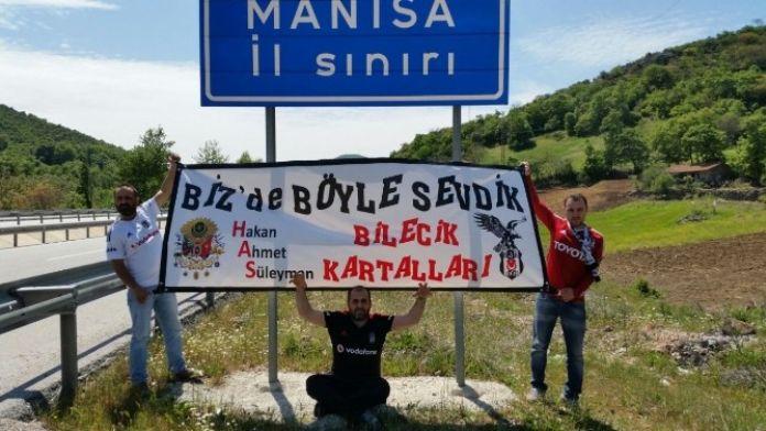 Bilecik'ten Manisa'ya Beşiktaş Sevgisi
