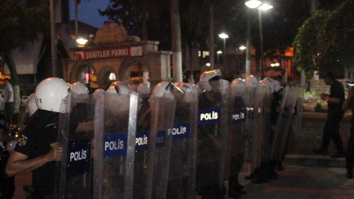 Kilis'teki yürüyüşe polis müdahelasi