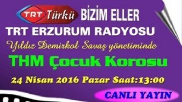 THM Çocuk Korosu Çocuk Bayramını Canlı Radyo Konseri İle TRT Türkü'de Kutladı