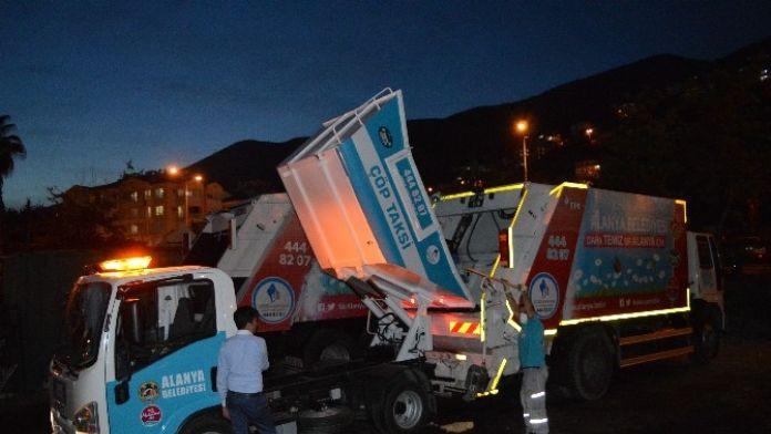 Alanya'da Çöp Taksiler Hizmete Başladı