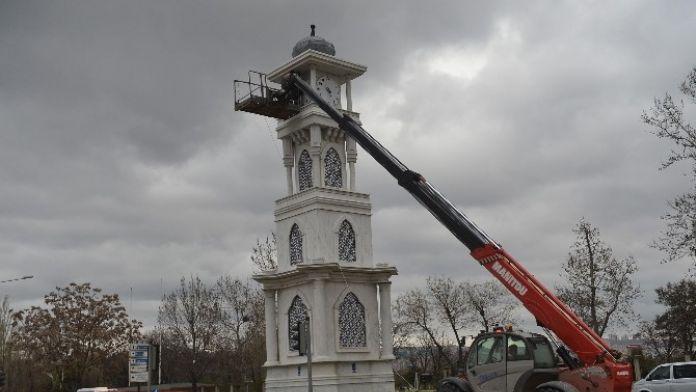 Başkent'in Zaman Kulelerine Bahar Temizliği