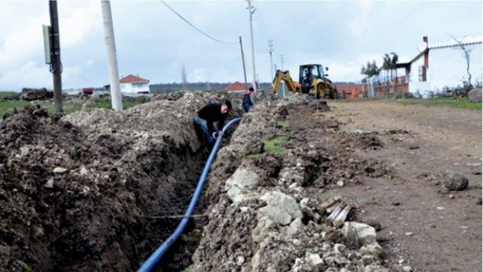 Küçük Sanayi Sitesi İle Fen Lisesine İçme Suyu Şebekesi Yapılıyor