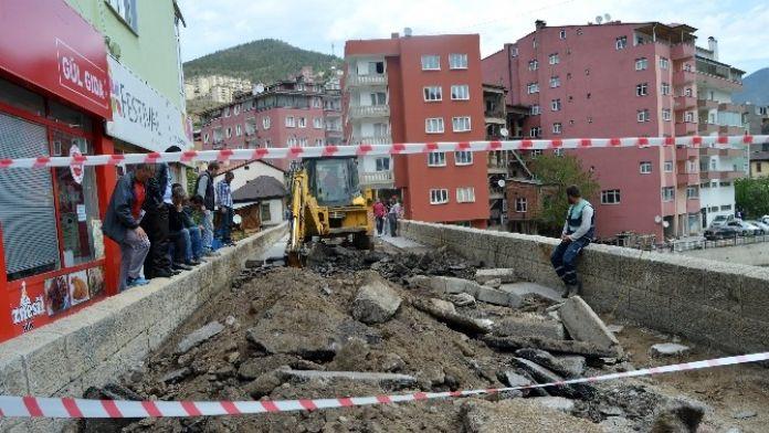 Tarihi Torul Köprüsünde Restorasyon Başladı