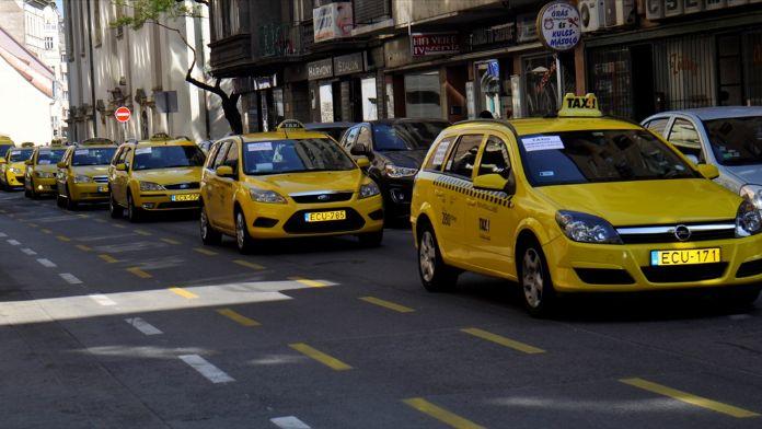 Budapeşte'de Uber protestosu