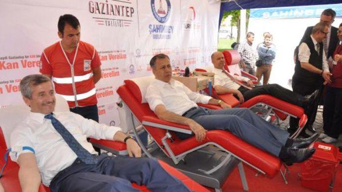 Gaziantep'te geleneksel kan bağışı etkinliği düzenlendi